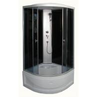 Dušo kabina R8804B grey/black 90x90 cm