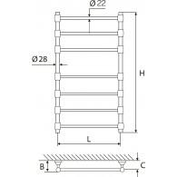 Rankšluosčių Džiovintuvas Žalvarinis EŽR 750 K-Au (Auksuotas)