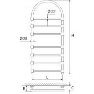 Rankšluosčių džiovintuvas žalvarinis EŽRA 750 K-Pa (sendintas su arka)