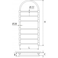 Rankšluosčių Džiovintuvas Žalvarinis EŽRA 750 K-Pol (Poliruotas Žalvaris Su Arka)